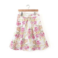 Design Strong Character Stylish High Rise Ruffle Print Skirt Women's Fashion Vintage Dress Umbrella [5013361988]