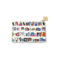 Pencil Pouch in Bella Bookshelf by Kate Spade New York