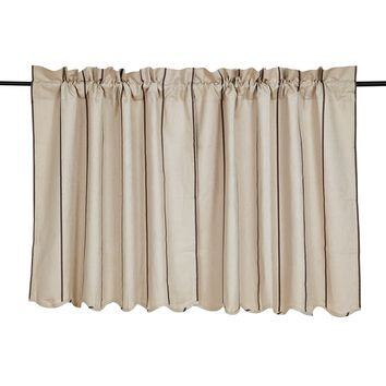 Charlotte Slate Tier Curtains 36""