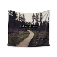 "Leah Flores ""Find Your Adventure"" Nature Quote Wall Tapestry"