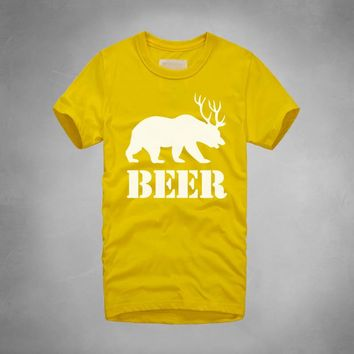 NEW fashion style printed beer T shirt Casual famous brand Husband Gift Beer short sleeve personalized cotton tee shirt