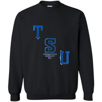 Tennessee HBCU State University Printed Crewneck Pullover Sweatshirt