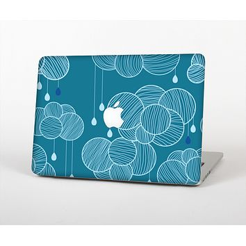 The Teal Abstract Raining Yarn Clouds Skin for the Apple MacBook Air 13""