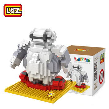 LOZ DIY Baymax Toy Big Hero 6 Figure Building Blocks Toy 2 Styles Assemblage Figure Toy Christmas gift 14+ Block