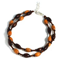 Wooden Hippie Anklet Boho Jewelry