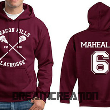 MAHEALANI 6 Beacon Hills Lacrosse Wolf 6 Number  Teen Unisex Hoodie - Tumblr Text - Part 1