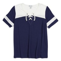 Love, Fire Varsity Baseball Tee (Big Girls) | Nordstrom