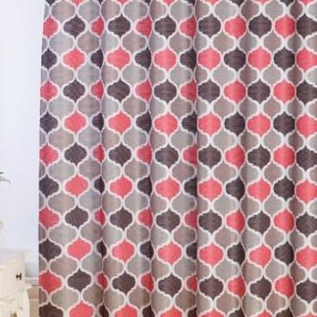 Monte Carlo Jacquard Fabric Shower Curtain