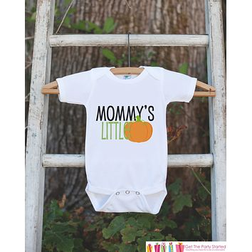 Mommy's Little Pumpkin Halloween Shirt - Pumpkin Onepiece - Fall Outfit for Baby Boy or Baby Girl - Halloween Outfit - Kids Novelty Shirt