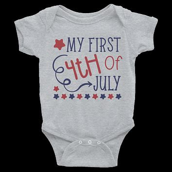My First 4th Of July Onesuit