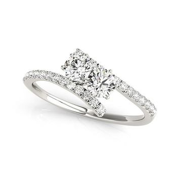 "I Love Us™  Two-Stone Ring 3/4ct ct tw Diamonds 14K White Gold  ""My Best friend is My true love™"""