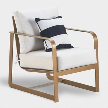 Gold Laila Outdoor Occasional Armchair