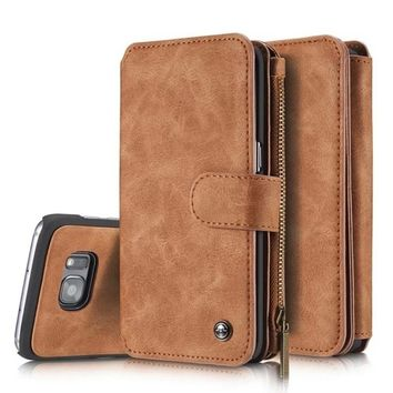Multifunctional Wallet Leather Card Slot Holder Flip Case For IPhone 7 / 7 Plus / 6 / 6 Plus / 6s / 6s Plus / 5 / 5s / SE / Sams