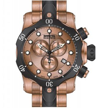 Invicta 80568 Men's Venom Reserve Rose Gold Dial Two Tone Steel Bracelet Chronograph Dive Watch