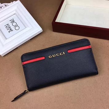GUCCI MEN'S LEATHER ZIPPER HAND BAG