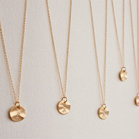 Set of 5 personalized initial necklace, Bridesmaids gift, Wedding gift, Bridal Jewelry, Bridesmaids initial necklace, Custom bridal party