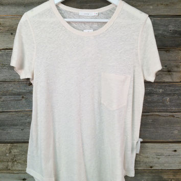 POCKET T-SHIRT - IVORY