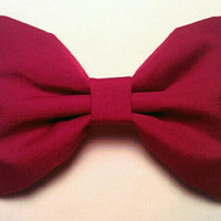 maroon hair bow by sillydolls on Etsy