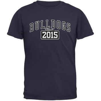 Graduation - Bulldogs Class of 2015 Navy Adult T-Shirt