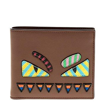 Fendi Bag Bugs Wallet Brown