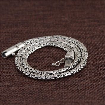 NEW ARRIVAL STERLING SILVER MEN NECKLACE PUNK STYLE THAI SILVER