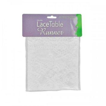 ONETOW White Lace Table Runner