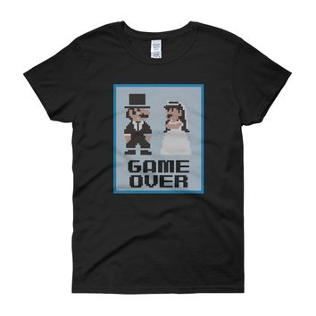 Game Over Wedding Bachelor Party Groom Women'S T Shirt