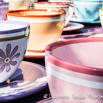 Teacups, Disneyland, teacup ride, disney decor, girlfriend photo gift, travel gift, disney lover, Alice in Wonderland, Mad Hatter