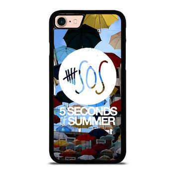 5 SECONDS OF SUMMER 4 5SOS iPhone 8 Case Cover