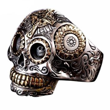 Luxury Solid 925 Sterling Silver Skull Ring
