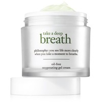 take a deep breath | oil-free cream | philosophy moisturizers