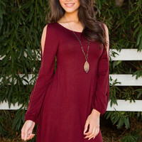 Lydie Dress - Burgundy