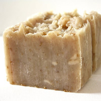 Coconut Soap . Toasted Coconut . Exfoliating Soap . All Natural Soap . Handmade Soap . Unscented Soap . Hot Process Soap . Vegan Soap