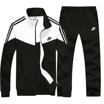 Nike Fashion Casual Cardigan Jacket Coat Pants Trousers Set Two-Piece-7