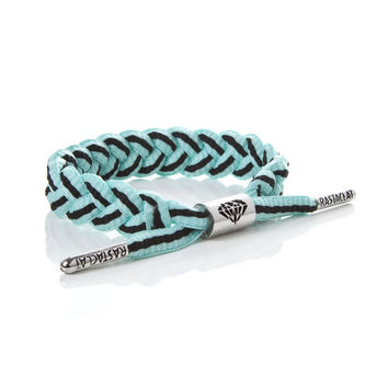 BRAIDED SHOELACE BRACELET - DIAMOND STRIPE - Rastaclat