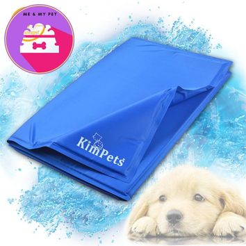 Multi-functional Dogs Summer Cooling Ice Mat Portable Pets Pad Cats Puppy Sleeping Travel Blanket Pet Cushion for Bed Cages PC04
