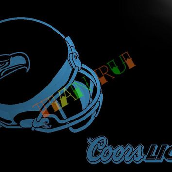 LD477- Seattle Seahawks Helmet coors LED Neon Light Sign   home decor  crafts