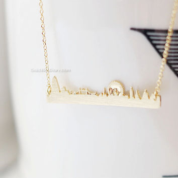 london necklace, london skyline necklace,city necklace, uk jewelry, souvenir london, skyline necklace, necklace for woman, fashion jewelry