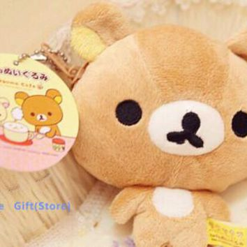 Kawaii SAN-X Rilakkuma Bear Plush 12*11CM Coin Cash Purse & Wallet Pouch BAG Case ; Women Lady Handbag Case Wallet