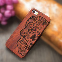 Carving Wooden Phone Case Cover in 9 Patterns for iPhone 6S & iPhone 6S Plus
