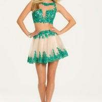 Two Piece with Two Tone Applique Dress