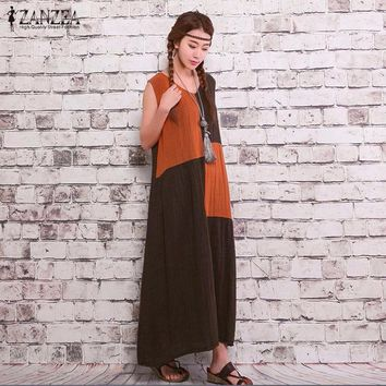Maxi Dresses Summer Casual Loose Vintage Dress Sexy Plus Size