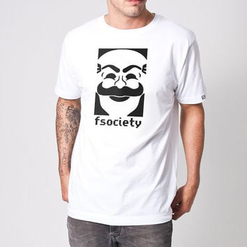 fsociety Mr. Robot T-Shirt, Mr Robot Mask Logo Shirt