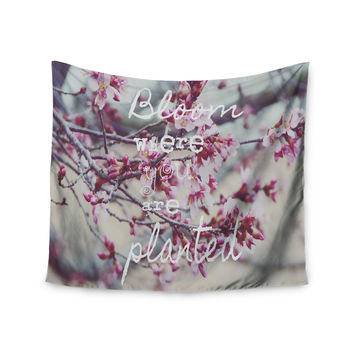 "Suzanne Carter ""Bloom Pink"" Wall Tapestry"