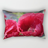 Kingdom Of Red Rectangular Pillow by Theresa Campbell D'August Art