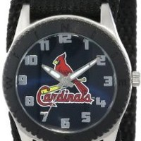 """Game Time Unisex MLB-ROB-STL """"Rookie Black"""" Watch - St. Louis Cardinals"""