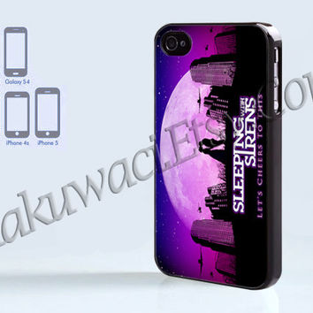 Sleeping With Sirens - iPhone 4 case - iPhone 4S case - Samsung Galaxy S3/S4 - iPhone case - Hard Plastic - Case Soft Rubber Case