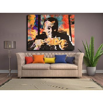 Wolf Of Wall Street Money Talks Abstract Canvas Wall Art Invincible