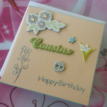 Birthday Card Cousin - Handmade Cards - Any occasion cards - Made in Australia - unique cards  -  Mini Cards