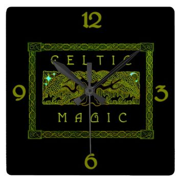 Celtic Magic - The Great Tree Square Wall Clock